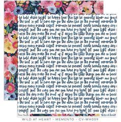 Cocoa Vanilla Wild at Heart 12 x 12 Card Stock Memento