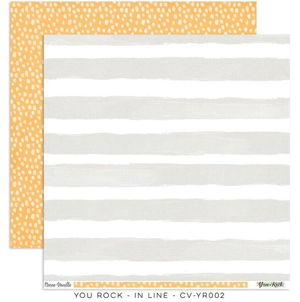 Cocoa Vanilla Studio YOU ROCK IN LINE 12 x 12 Cardstock