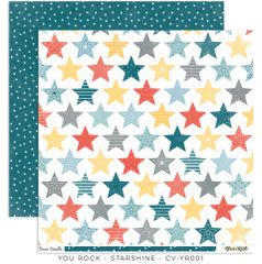 Cocoa Vanilla Studio YOU ROCK Starshine 12 x 12 Cardstock