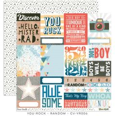 Cocoa Vanilla Studio YOU ROCK Random 12 x 12 Cardstock