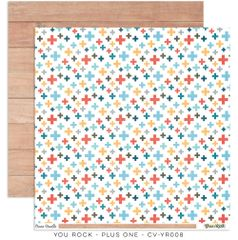 Cocoa Vanilla Studio YOU ROCK Plus One 12 x 12 Cardstock