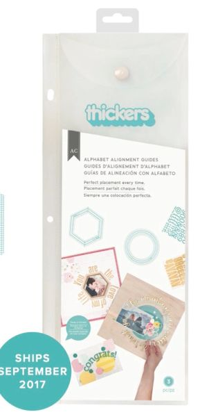 American Crafts Thickers Alignment Guides Version 2 Hexagons and Circles