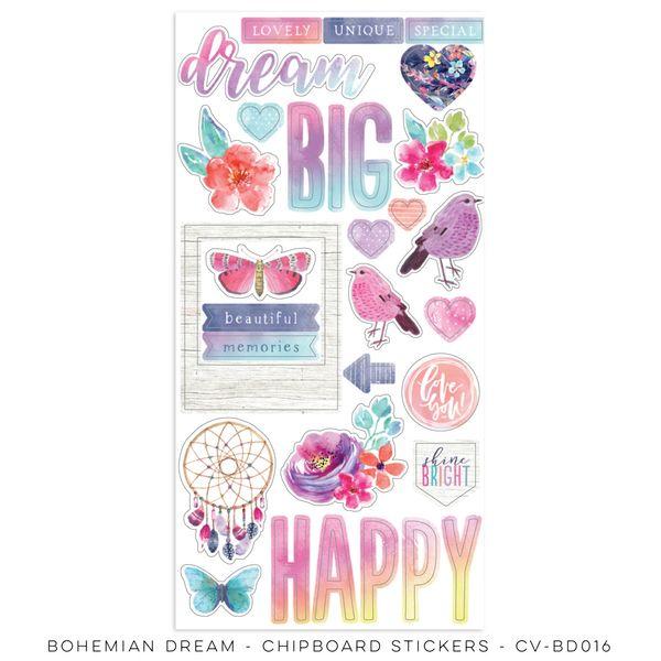 Cocoa Vanilla Studio Bohemian Dream Chipboard Stickers