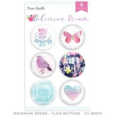 Cocoa Vanilla Studio Bohemian Dream Flair Buttons