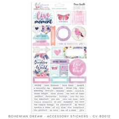 Cocoa Vanilla Studio Bohemian Dream Accessory Stickers