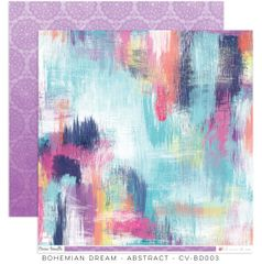 Cocoa Vanilla Studio Bohemian Dream ABSTRACT 12 x 12 Cardstock