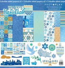 PhotoPlay Happy Hanukkah 12 x 12 Collection Kit