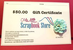 $50 Gift Certificate via USPS mail