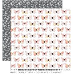 Cocoa Vanilla Studio More Than Words GOSSAMER 12 x 12 Cardstock