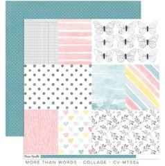 Cocoa Vanilla Studio More than Words COLLAGE 12 x 12 Cardstock