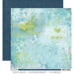 Cocoa Vanilla Studio Boys Rule Expressionist 12 x 12 Cardstock