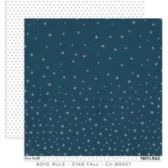 Cocoa Vanilla Studio Boys Rule Star Fall 12 x 12 Cardstock