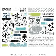 Cocoa Vanilla Studio Boys Rule Clear Stickers