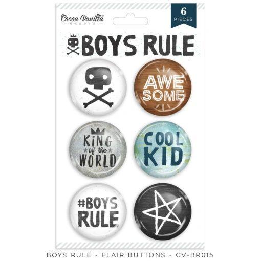 Cocoa Vanilla Studio Boys Rule Flair Buttons