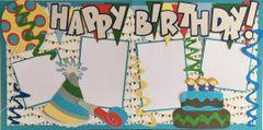 Happy Birthday Boy LAYOUT KIT by Mrs. Crafty