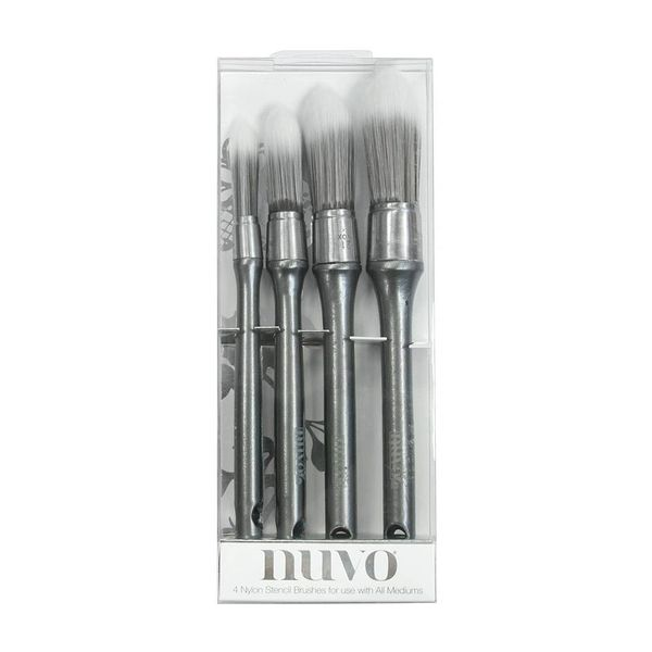 Nuvo Stencil Brushes 4 PCS 968n