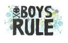 Cocoa Vanilla Boys Rule Happy Scrappy Bag