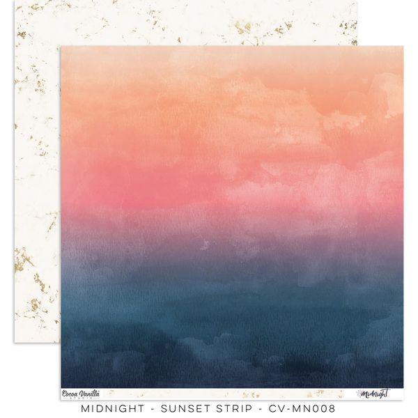 "Cocoa Vanilla Studio Midnight – ""Sunset Strip"" Paper"