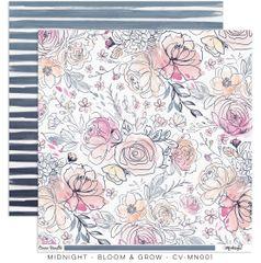 "Cocoa Vanilla Studio Midnight ""Bloom & Grow"" Paper"