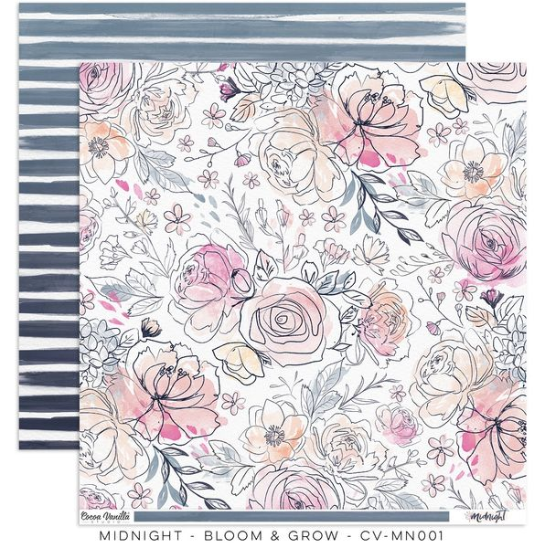 "Cocoa Vanilla Studio Midnight ""Bloom & Grow"" Paper"