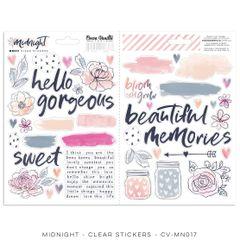 Cocoa Vanilla Studio Midnight – Clear Stickers