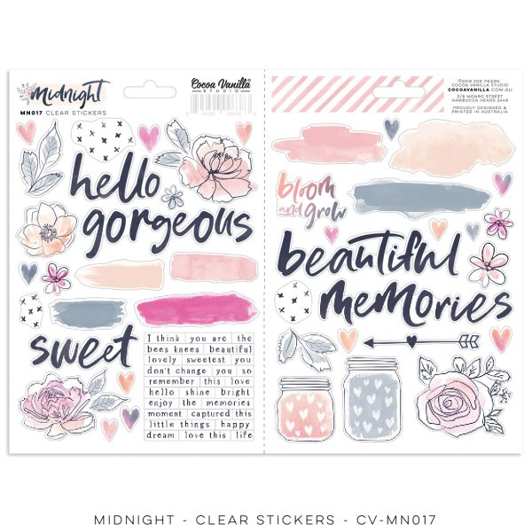 Cocoa Vanilla Studio Midnight – Clear Stickers