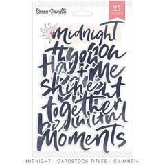 Cocoa Vanilla Studio Midnight Die Cut Titles