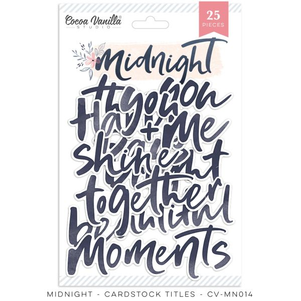 Cocoa Vanilla Studio Midnight Die Cut Titles