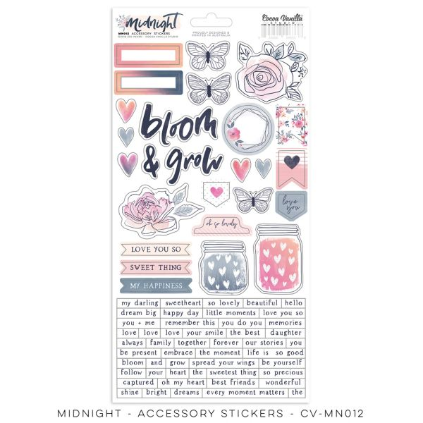 Cocoa Vanilla Studio Midnight Accessory Stickers