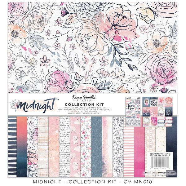 Cocoa Vanilla Studio Midnight 12 x 12 Collection Kit