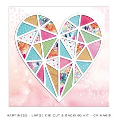 Cocoa Vanilla Studio Happiness Large Die Cut and Backing Kit