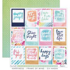 Cocoa Vanilla Studio Happiness Frame of Mind 12 x 12 Cardstock