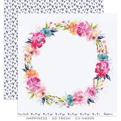 Cocoa Vanilla Studio Happiness SO Fresh 12 x 12 Cardstock