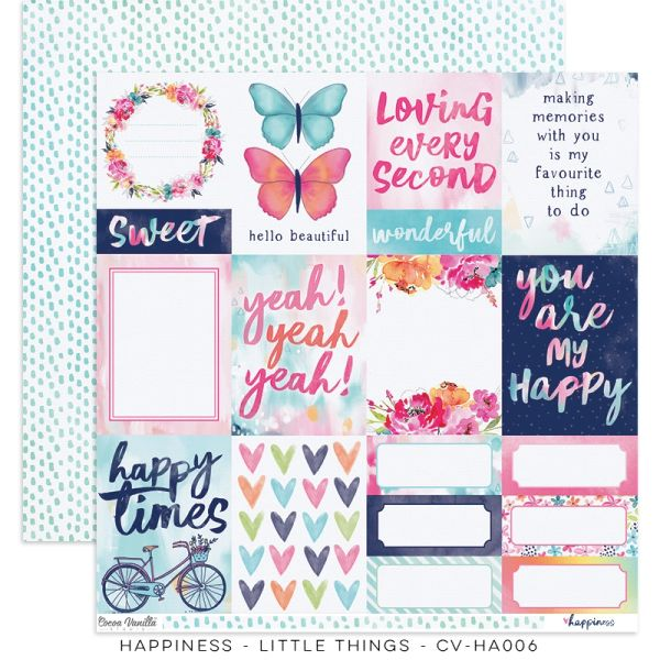 Cocoa Vanilla Studio Happiness Little Things 12 x 12 Cardstock