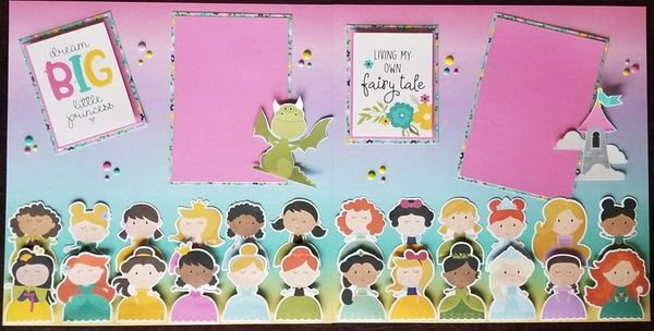 Simple Stories Little Princess Double Page Layout Kit