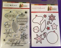 PhotoPlay Christmas Memories ELEMENTS ORNAMENTS stamps and Dies
