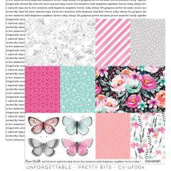 Cocoa Vanilla Studio Unforgettable Pretty Bits 12 x 12 Cardstock