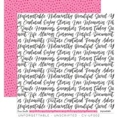 Cocoa Vanilla Studio Unforgettable Unscripted 12 x 12 Cardstock