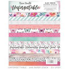 PRE ORDER Cocoa Vanilla Studio Unforgettable 6 x 8 Paper Stack