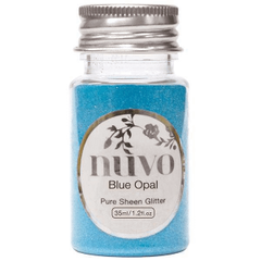 Nuvo - Pure Sheen Glitter - Blue Opal - 35ml Bottle - 1106n
