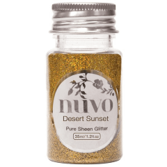 Nuvo - Pure Sheen Glitter - Desert Sunset - 35ml Bottle - 1100n