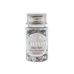 Nuvo - Sequins - Silver Rain Sequins - 35ml Bottle - 1144n