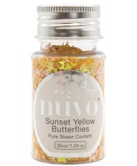 Nuvo - Confetti - Sunset Yellow Butterflies - 1069N
