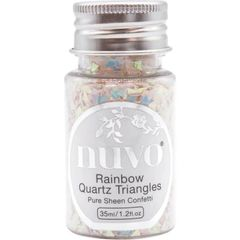 Nuvo - Confetti - Rainbow Quartz Triangles - 35ml Bottle - 1067n