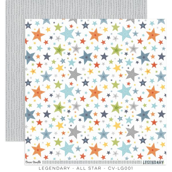 COCOA VANILLA STUDIO LEGENDARY ALL STAR 12 x 12 Cardstock