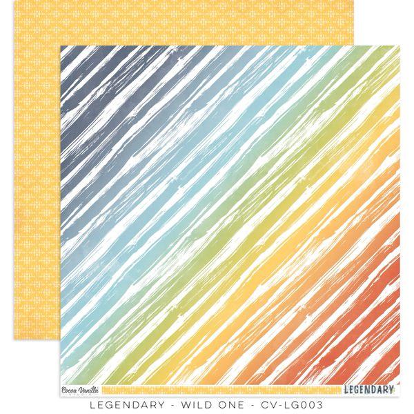 COCOA VANILLA STUDIO LEGENDARY WILD ONE 12 X 12 CARDSTOCK