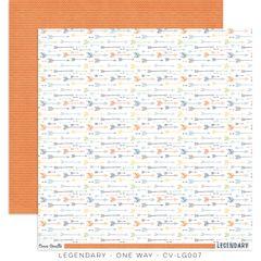 PRE ORDER COCOA VANILLA STUDIO LEGENDARY ONE WAY 12 X 12 CARDSTOCK