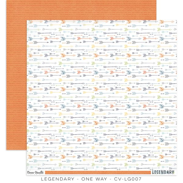 COCOA VANILLA STUDIO LEGENDARY ONE WAY 12 X 12 CARDSTOCK
