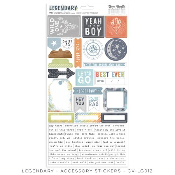 COCOA VANILLA STUDIO LEGENDARY Accessory stickers