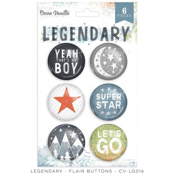 COCOA VANILLA STUDIO LEGENDARY FLAIR BUTTONS